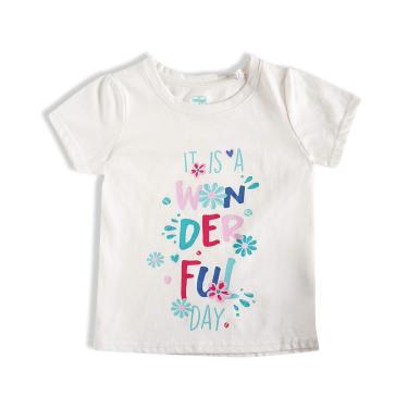 Camiseta Manga Curta, Meia Malha, Flores, Tip Top, Kids Menina, Neve, 8