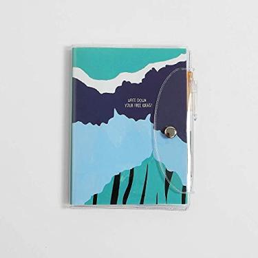 Caderno Com Capa e Porta Caneta Azul