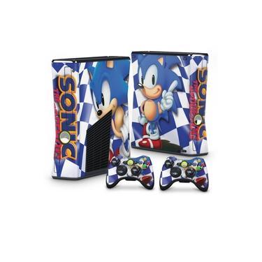 Skin Adesivo para Xbox 360 Slim - Sonic The Hedgehog