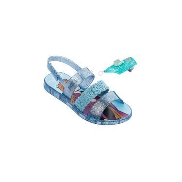 Sandália Infantil Grendene Kids Frozen Snow Power 22026 Com Brinquedo Bracelete