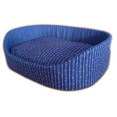 Caminha de Cachorro e Gato OnPets Europa Cama Pet Pequena em Tecido cor Azul Poa P140055