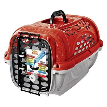 Caixa Transporte Panther Pop N.2 Vermelh Plast Pet para Cães