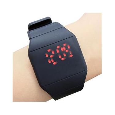 bba23787eb6 Relógio Masculino Digital Led Touch Silicone