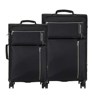 Conjunto De Malas Travel Bags 4 Rodas 20 E 24 Polegadas Preto Multilaser - Bo421 Bo421
