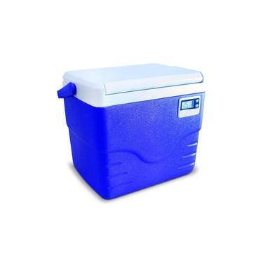 Imagem de Caixa Térmica Azul c/ Termômetro Digital Alça Superior 8,5 Litros - Coleman