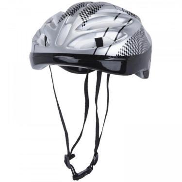Capacete Para Bicicleta Acte c/ Tira Regulável A77-C, Cor: Cinza, Tamanho: ÚNICO