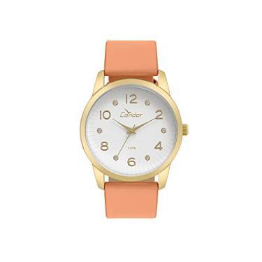 8e0a5cf456 Relógio Feminino Condor CO2035KWE 2B - Dourado Laranja