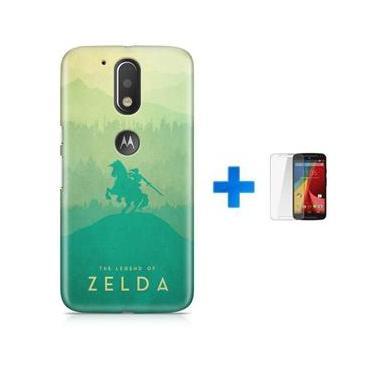 Kit Capa TPU Moto G4 Play The Legend Of Zelda – Breath of The Wild + Pel Vidro (BD30)