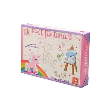 Imagem de Kit De Pintura Unicórnio Rosa 0985 - Brincadeira De Criança