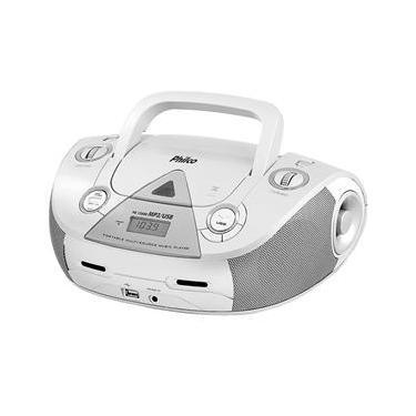 Boombox USB/MP3/MP4 Branco/Prata 4W Philco Bivolt PB126BR