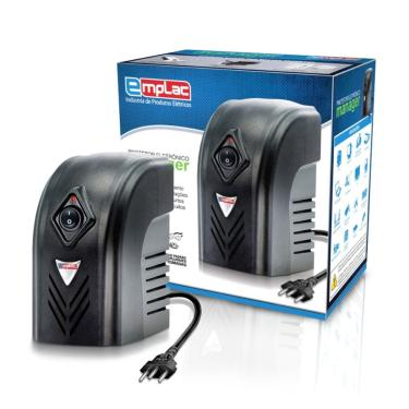 Estabilizador 500Va Bivolt Preto Protetor Eletrônico Emplac