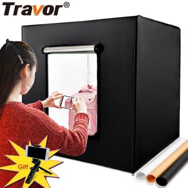 Imagem de Travor-estúdio fotográfico profissional softbox, quadrada 80cm, iluminação, tenda com 3 cores, fundo