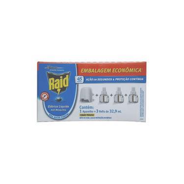 Repelente Elétrico Líquido Raid - 1 Aparelho + 3 Refil 32,9ml