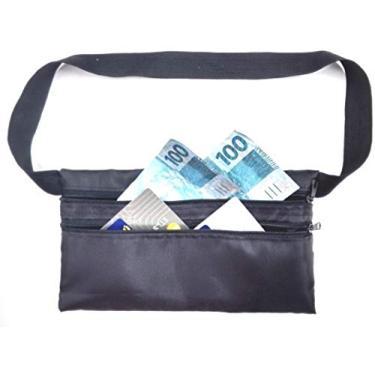 Pochete Porta Dolar Doleira Money Belt Anti-furto (Preto)