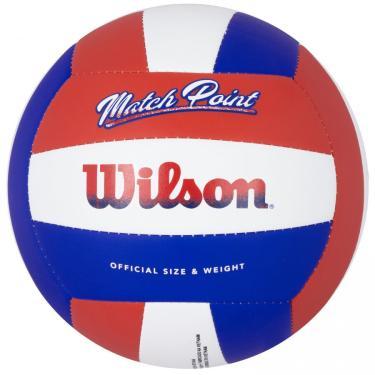 Bola de Vôlei Wilson Match Point Vermelho Branco e Azul