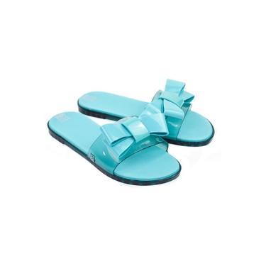 Chinelo Fem Sky Slide Azul Turquesa Zaxy 89707
