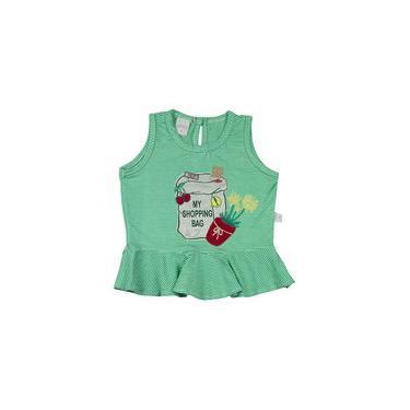 Conjunto Infantil Malha Listrada Catalina e Índigo Júlia My Shopping Bag - Verde