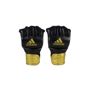 Luva Adidas MMA em Couro Preto/Dourado