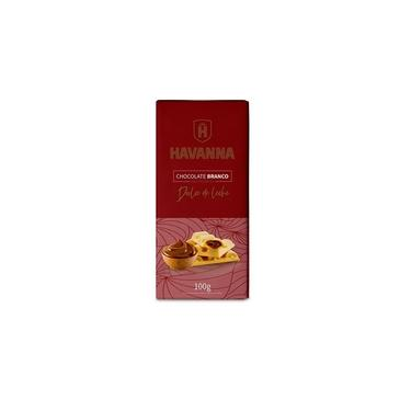 Barra Chocolate Branco Havanna Recheio Doce De Leite 100G