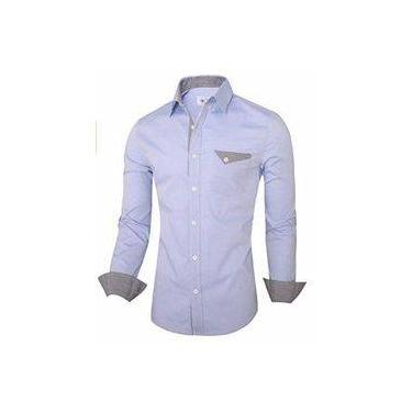 ed24681104 Camisa Social Slim Premium Estilo Berlim