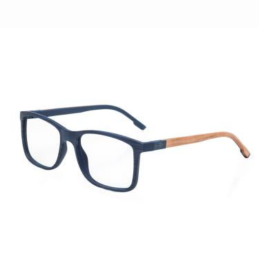 18dd91ee55a6a Óculos de Grau Mormaii Pequim Wood Masculino M6067K9053 - Acetato Azul  Riscado Fosco