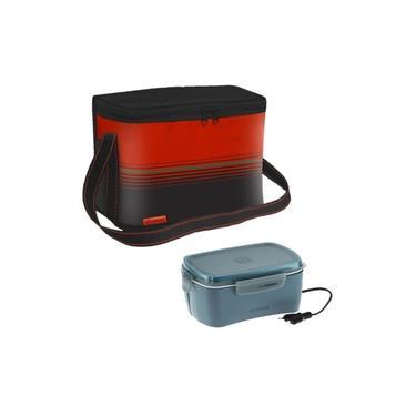 Imagem de Kit Bolsa Térmica Cooler 9,5 Litros + Marmita Elétrica Bebidas Lanche - Soprano