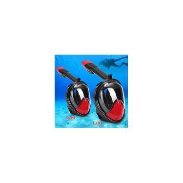 Imagem de Máscara de mergulho totalmente seco nadando máscara facial completa mergulho mergulho mergulho Snorkeling para adulto