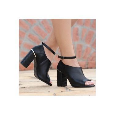 Sapato Open Boot Camminare Preto Feminino 6202-05014057