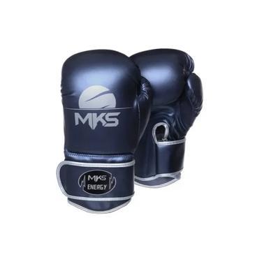 Luva de Boxe MKS Energy - Azul/Metali