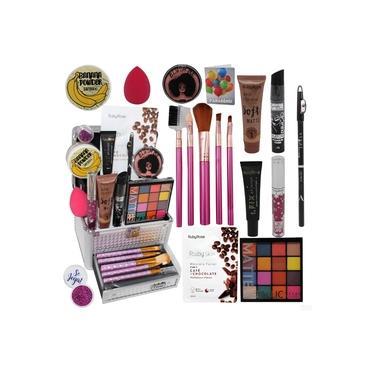 Imagem de Maleta Kit Maquiagem Completo Barato Com Pincéis Promoção