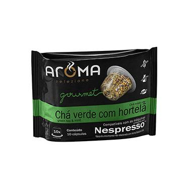 Imagem de Cápsulas de Chá Verde Com Hortelã Aroma Selezione Compatível Nespresso - 10 Unidades