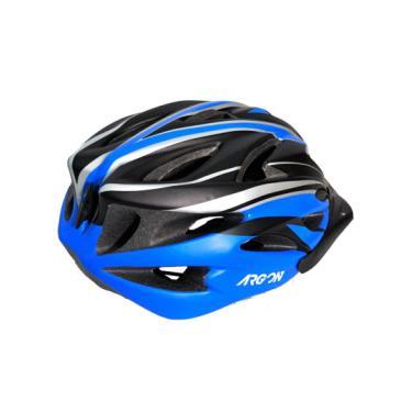 Capacete Mtb Adulto Argon V-102 C  Led Preto C  Azul Grande a812da6a7cd60