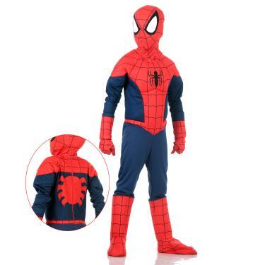 Imagem de Fantasia Homem Aranha Infantil Premium Original com Máscara e Peitoral - Marvel M