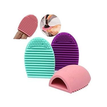 Esponja de Silicone para Limpeza de Pinceis de Maquiagem Brushegg|