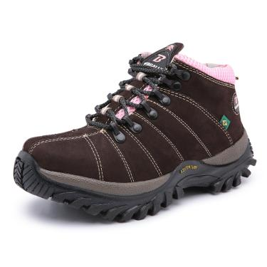 Bota Tenis Adventure - Unissex -  Air Cross - Bg - 302 - Marrom/rosa  unissex