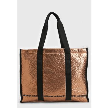 Bolsa Adidas Originals Shopper Metalizada Dourada ADIDAS Originals GE4783 feminino