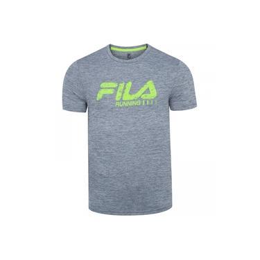 Camiseta Fila Run Bars Melange - Masculina
