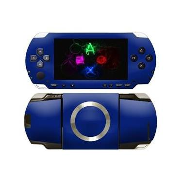 Kit Skin Adesivo Protetor PSP 1000 Fat (Azul)