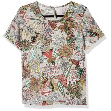Camiseta Estampada, Colcci, Feminino, Bege/Verde/Vermelho/Branco/Rosa/Marrom/Preto, P