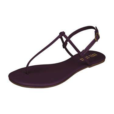 Rasteira Free Flats T-Strap Ultra Violeta  feminino