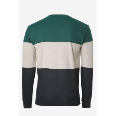 Suéter Listrado Verde Avenida