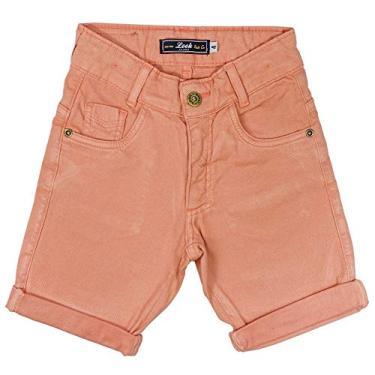 Bermuda Look Jeans Sarja Collor - CORAL - 18