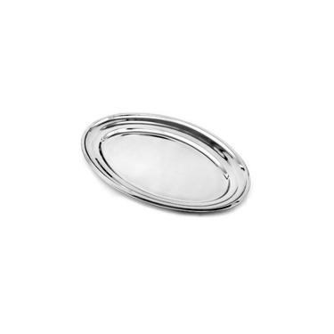 Imagem de Travessa Bandeja Oval de Aço Inox 29x18cm