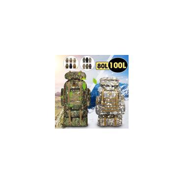 80 / 100L - Molle Tático Militar Mochila Ao Ar Livre Exército Caminhadas Mochila Ao Ar Livre Camping Sac a Dos