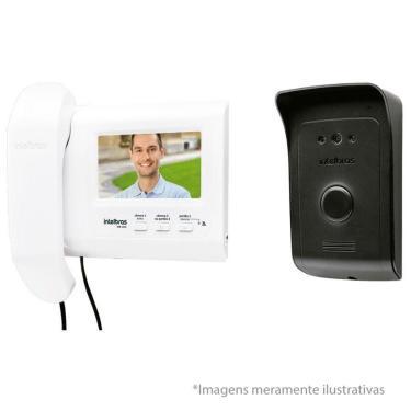 Imagem de Kit Vídeo Porteiro Interfone Intelbras Ivs 1010, Visualização Câmera Extra, Abre 2 Portões