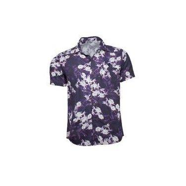d71f617322 Camisa Floral Masculina Roxa