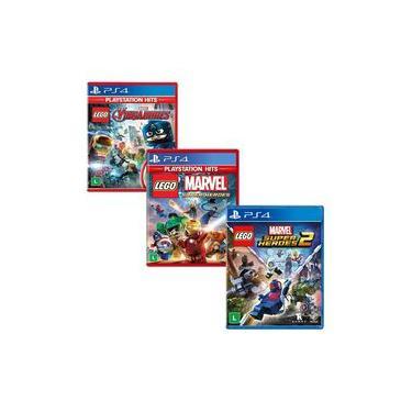 Lego Marvel Vingadores + Marvel Super Heroes 1 + 2 - PS4