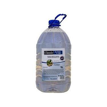 Alcool Gel Antisséptico Classic 70% Mãos Hidratante 5 Litros