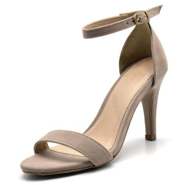 Sandália Salto Fino Gisela Costa Taupe  feminino