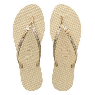 Sandálias Havaianas You Shine Bege  feminino
